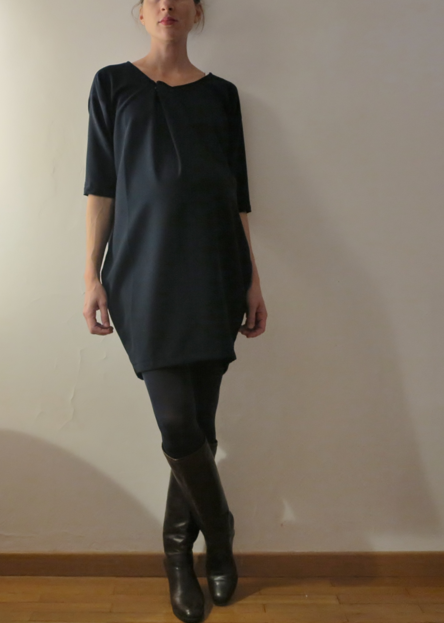 63efba7c28c7d I have made it longer to become a dress, inspired by Portia version. I have  chosen the small size, but added 8 cm in the front to give room to the  growing ...